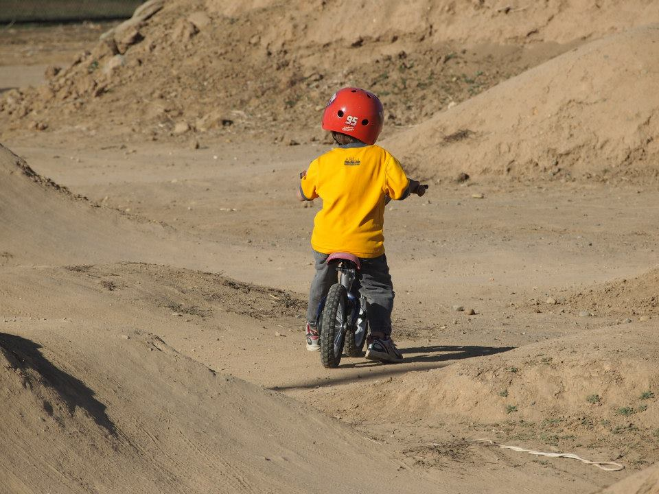Grom at the bike park
